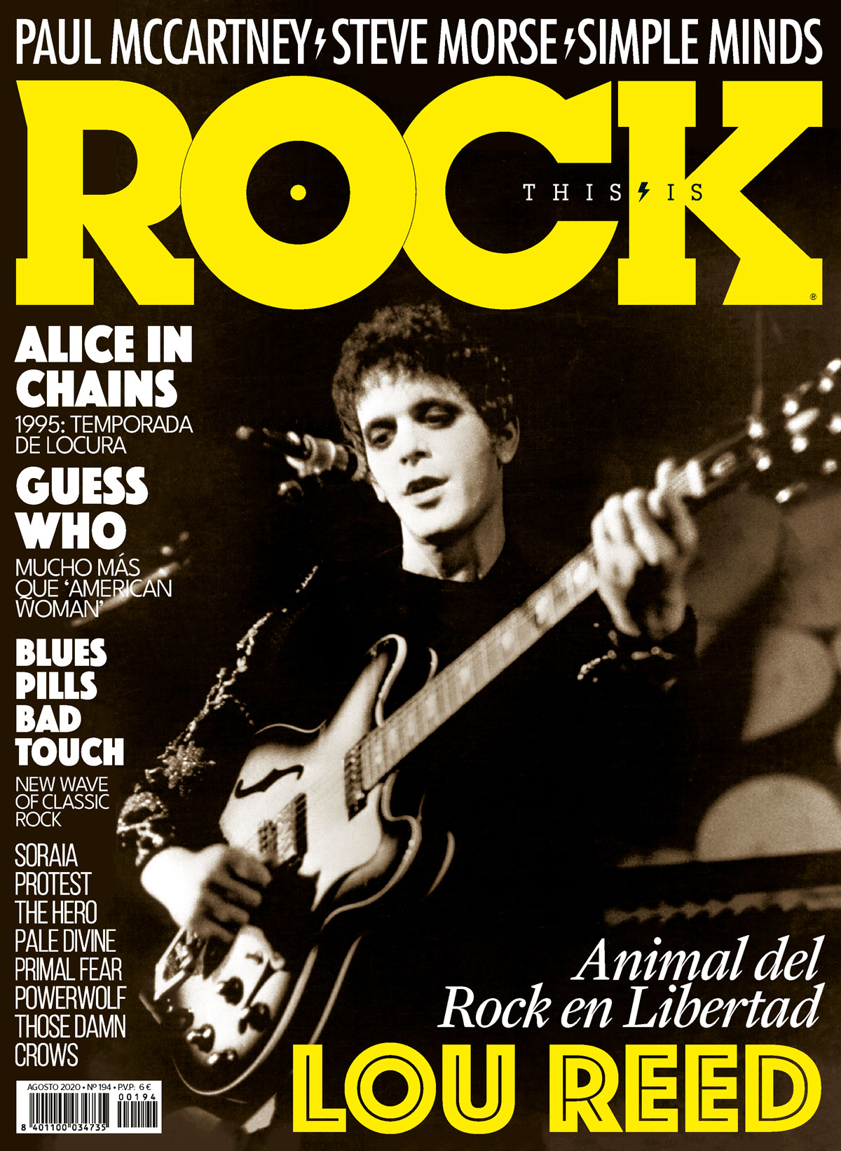 TIR194 Lou Reed El Animal del Rock en Libertad La Revista Toda la Gente del Rock Tu Magazine de Classic Rock Hard Rock Heavy Metal Prog Rock Blues Rock
