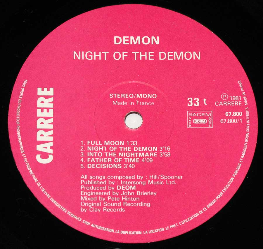¡Night Of The Demon!   Revista This Is ROCK